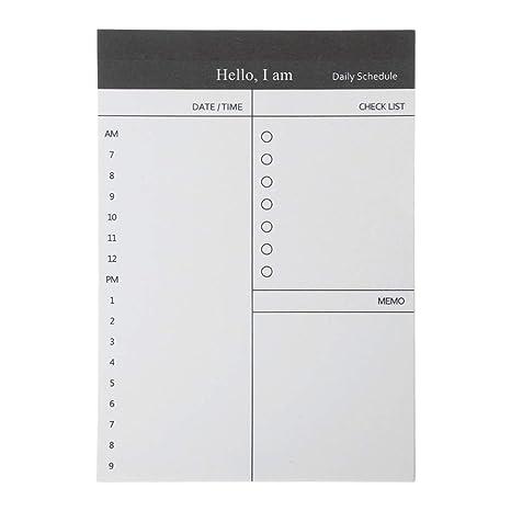 GROOMY Sticky Notes 50 Sheers DIY Planner Memo Notes Bloc de ...