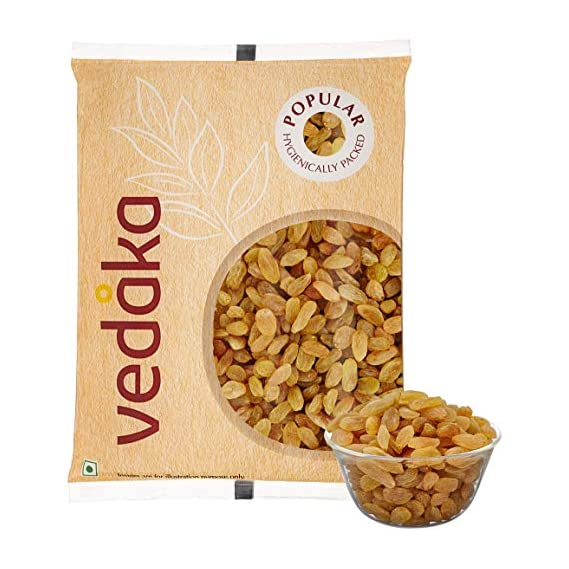 Amazon Brand - Vedaka Popular Raisins, 1kg