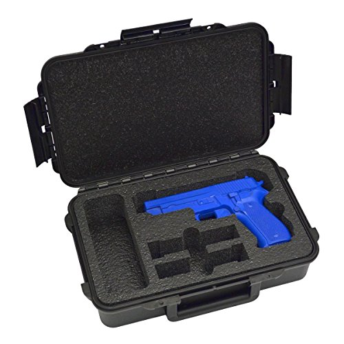 - 1 Pistol 2 Magazine + Accessory Doro Waterproof Single Gun Case with Custom Mycasebuilder Foam Insert