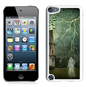 Beautiful And Unique Designed With Castle Cobwebs Ghosts Lightning Birds (2) For iPod 5 Phone Case