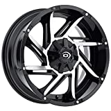 Vision 422 Prowler 17x9 6x139.7/6x5.5'' -12mm Black/Machined Wheel Rim