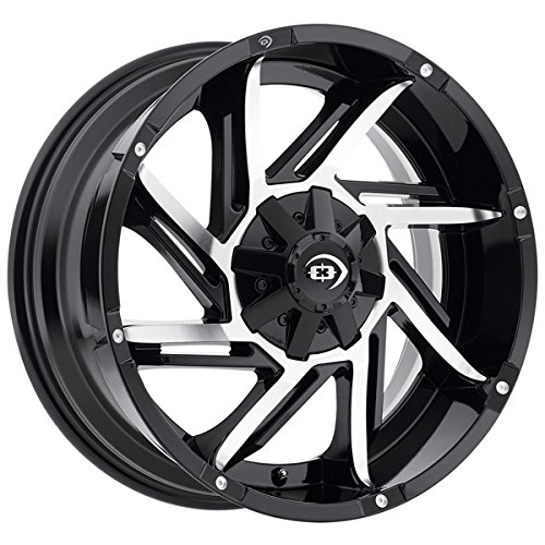 Vision 422 Prowler 17x9 6x139.7/6x5.5'' -12mm Black/Machined Wheel Rim by Vision