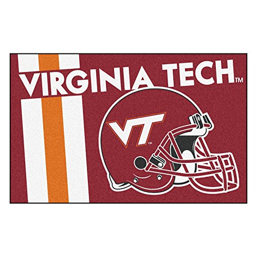(Virginia Tech University Custom Logo Starter Rug)