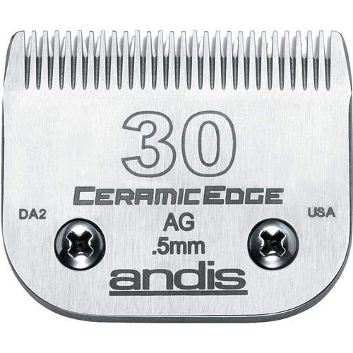 Andis CeramicEdge Carbon-Infused Steel Pet Clipper Blade, Size-30, 1/50-Inch Cut Length (64260)