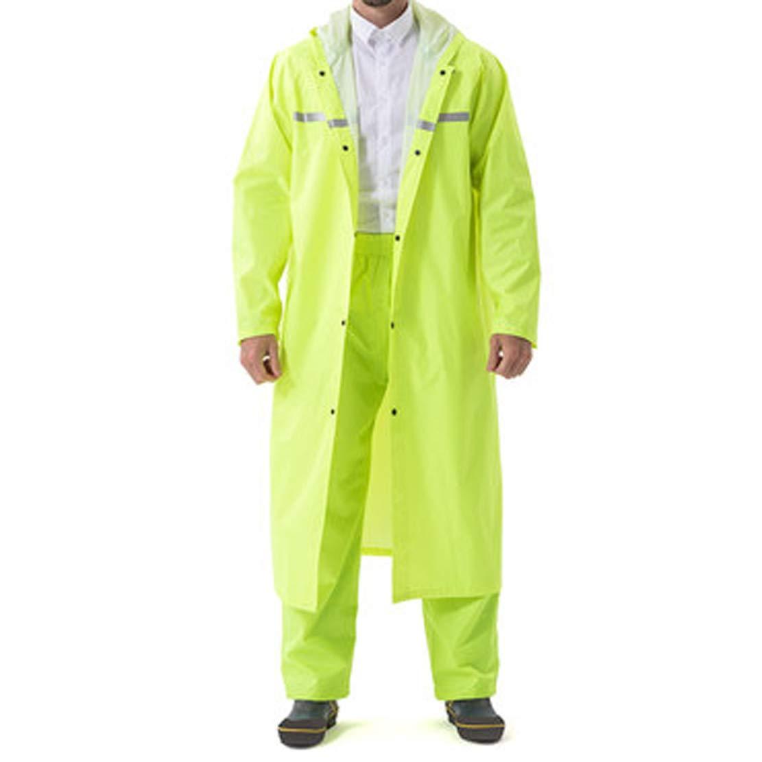XXLlumière vert MZMM Imperméable Adulte Rainstorm épaissir Siamois Poncho extérieur Long extérieur Costume Plein Corps Hommes Mode Femmes Mode