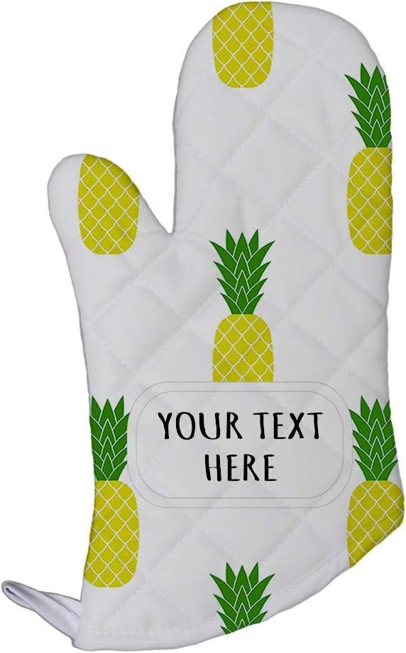 Polyester Oven Mitt Custom Pineapple Seemless Pattern A Adults Kitchen Mittens