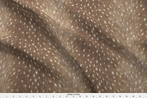 Deer Fabric - Soft Deer Hide Fabric and Taupe by willowlanetextiles - Deer Fabric with Spoonflower - Printed on Minky Fabric by the Yard