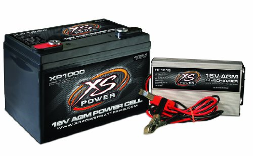 XS Power XP1000CK1 16V Battery and 16V 15 Amp IntelliCharger Combo with 3/8