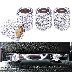 Crystal Car Headrest Bling Collar Rings