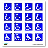 Disabled Wheelchair Symbol BLUE Set of 16 - Handicapped - Window Bumper Laptop Stickers