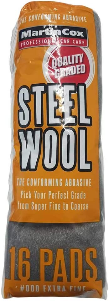 Finishing /& polishing Metal Wood and Automotive bodywork 16x Steel Wool Grade #1#0#00#000#0000 16 High Quality Steel Wire Wool Pads for Cleaning Very Fine#00