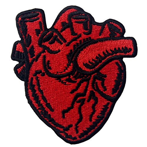 X-Ray Anatomical Heart Embroidered Badge Iron On Sew On (Easy Diy Costumes Men)