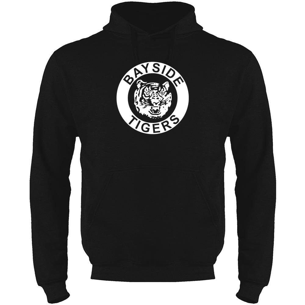 Bayside High School Tigers Black S Mens Fleece Hoodie Sweatshirt by Pop Threads