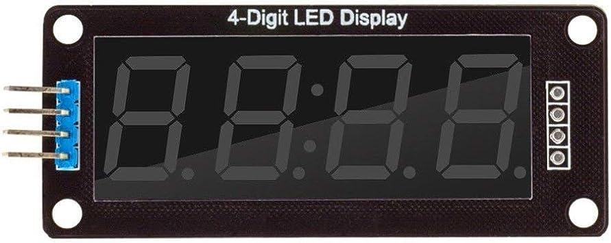 Color:red 0,56 Zoll TM1637 4Bit Digital LED 7 Segment Clock Tube Display f/ür Arduino