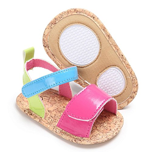 Hunpta Kleinkind Sommer Mädchen Krippe Schuhe Soft Sole Neugeborenen Anti-Slip Baby Sneakers Sandalen Hot Pink