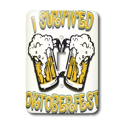 3dRose lsp_44601_1 Text with I Survived Oktoberfest Single