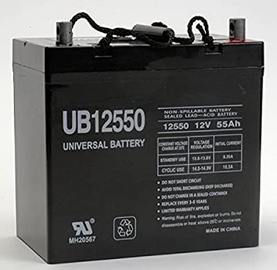 Best Cheap Deal for New Ub12550 45825 12v 55ah 22nf Battery Scooter Wheelchair Mobility Deep Cycle by Generic - Free 2 Day Shipping Available