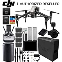 DJI Inspire 2 Quadcopter (CinemaDNG and Apple ProRes Licenses Included) with Zenmuse X5S + DJI CrystalSky 7.85 High-Brightness Monitor + DJI CINESSD (240GB) + CINESSD Station Bundle