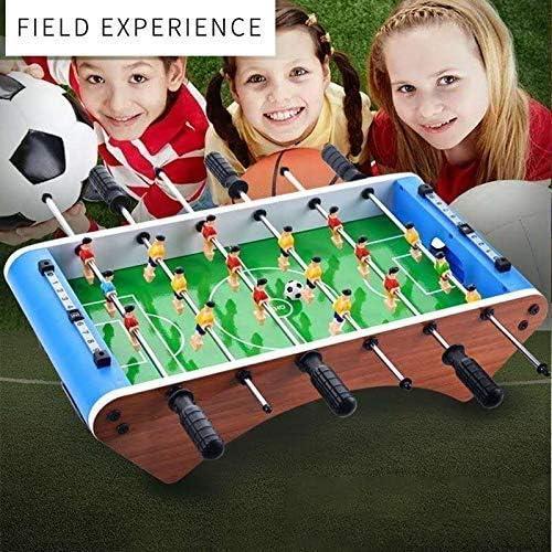 Futbolin Foosball, Juego de fútbol de Mesa, fácil de montar,Grano de Madera Juguete Navidad de mesa para niños,6 bar-18 jugadores, patas de mesa con arco de 20 pulgadas: Amazon.es: Hogar
