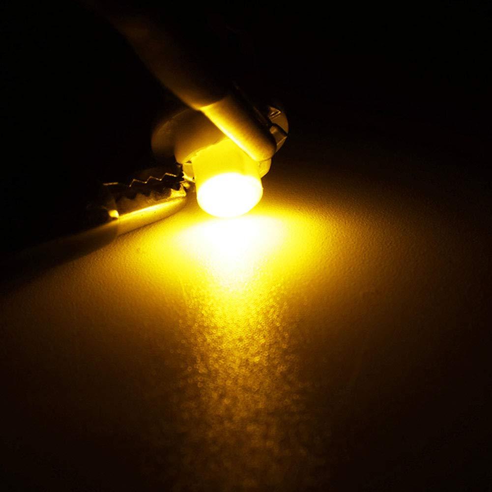 Pack of 10 TABEN B8.3D LED Bulb COB-1SMD 12V Car Dashboard Instrument Reading Panel Light Indicator Light Blubs Amber