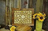 Wedding guest book alternative 100 guests signature frame chestnut frame holder and pen rustic wedding set