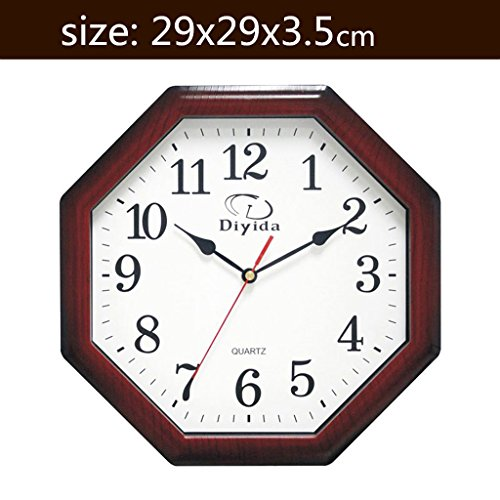 Pendant Quartz Clock - Royal-Minimalist living room wall clock Creative mute pendant watch Octagonal Quartz clock