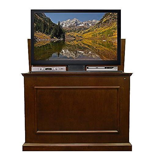 Hidden tv stand amazon touchstone 72008 elevate tv lift cabinet 50 wide television stand wood espresso eventshaper