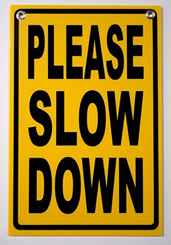 1Pc Leading Popular Please Slow Down Security Signs Children Safety Outdoor Warning Protection Size 12