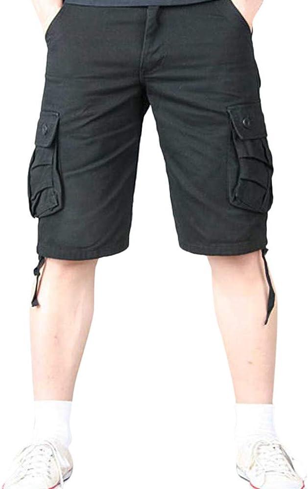 Pantalones Cortos Hombre Hombres De AlgodóN Multibolsillos ...