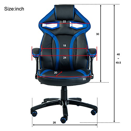 Merax Stylish Devil S Eye Series High Back Gaming Chair Pu