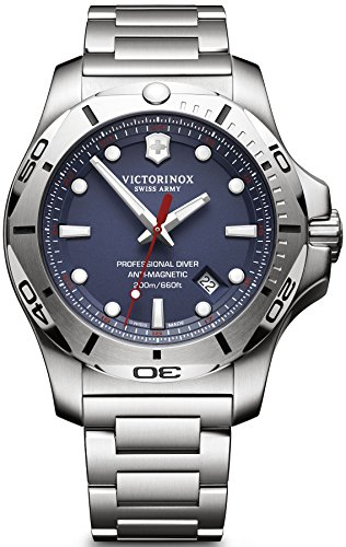 Victorinox I.N.O.X. Blue Dial Stainless Steel Mens Watch 241782