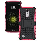 Description: High quality heavy duty protection case for LG LV3/Aristo/V3/MS210 Only. Material: TPU (Thermoplastic Polyurethane) It's highly resistant to oil, dirt, and scratches with a look of a hard case but shock absorption and protectection of a ...