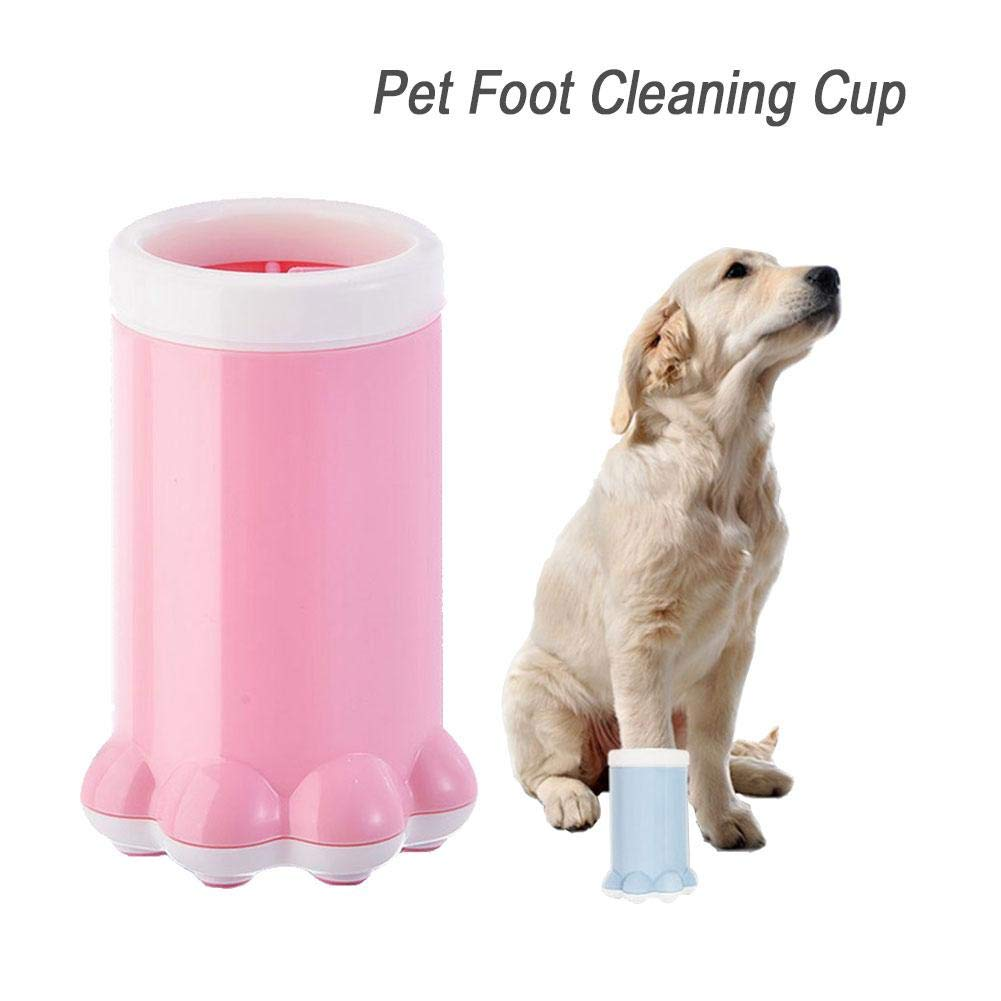 Pet Foot Cleaning Brush Cup Soft Silicone Cat Dog Puppy Foot Paw Cleaner Cute Pet Foot Washer Cup Quickly Paws Cleaning Product