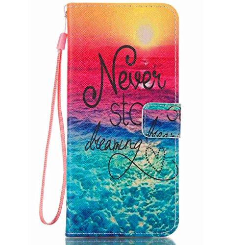 JanCalm Galaxy S8 Plus Wallet Case,S8 Plus Flip Case,Samsung s8 Plus case,[Wrist Strap] [Kickstand] Pattern Premium PU Leather Wallet [Card/Cash Slots] Flip Cover + Stylus (Never Stop)