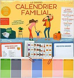 Grand Calendrier 2021 Le grand calendrier familial 2020 2021 (French Edition): Marianne