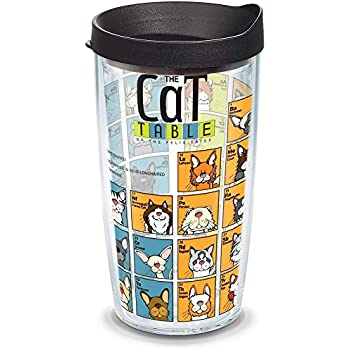 beb23a5b241 Tervis 1090080 Cat Periodic Table Insulated Tumbler with Wrap and Black  Lid, 16oz, Clear