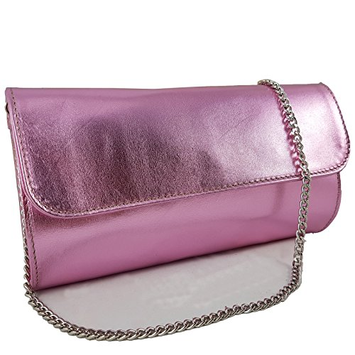 Freyday Metallic Pink in Made Made Clutch Women's Freyday Italy rqUrwnFW