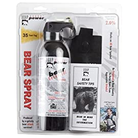 UDAP 18HP Super Magnum Bear Spray 13.4 Ounces 4 Hottest bear spray available at 2% CRC Developed by a bear attack survivor High volume spray when you need it most. 35 foot range.