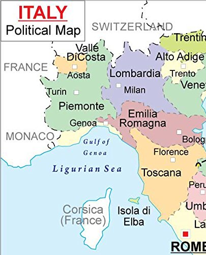 Amazon italy political map 36 w x 4438 h office products gumiabroncs Choice Image