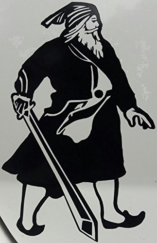 Indiashopers Baba Deep Singh Windows Sides Hood Bumper Car Sticker Black