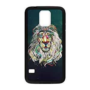 Canting_Good Lion Space Custom Case Cover Shell for Samsung Galaxy S5 (Laser Technology)