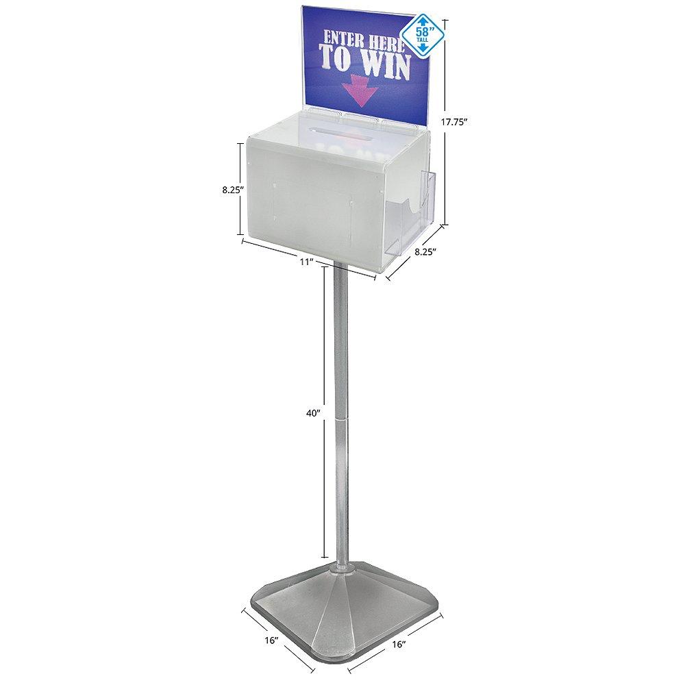 Azar 206303 White Lottery Box on Pedestal by Azar Displays (Image #1)
