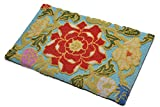 Amor Home Premium Hand-Made Hooked Non-Slip Ultra Comfort Memory Foam Kitchen Rug, Floral Pattern