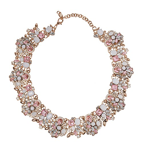 Holylove Gold Chain With Light Pink Crystal Stones (Pink Gold Jewelry)