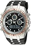 U.S. Polo Assn. Sport Men's Quartz Metal and Rubber Casual Watch, Color:Black (Model: US9373)