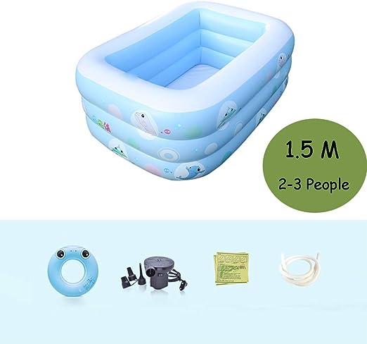 LYZ - Piscina infantil hinchable para niños de 3 años, 1,5 m ...