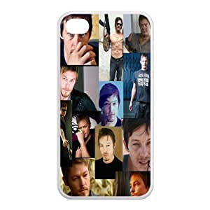 Hot Actor Star Norman Reedus Daryl Dixon Design TPU Protective Case For Iphone 4 4s iphone4s-82913