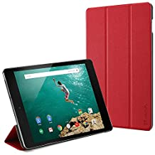 Vena® Google Nexus 9 Tablet [vCover] PU Leather Smart Cover Stand Slim Hard Shell Case [Sleep/Wake Function] for Google Nexus 9 Tablet (Red)