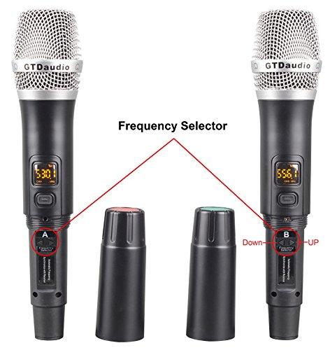 GTD Audio U-35H UHF Wireless Microphone System Karaoke mic with 2 microphones