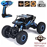 Toykart Waterproof Remote Controlled Rock Crawler RC Monster Truck, Four Wheel Drive, 1:18 Scale, Multi Color - Original